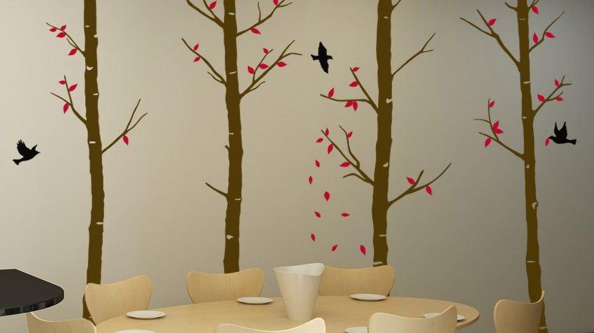 Feigen fa falmatrica dekoráció gyerekszoba faltetoválás kreativ ajándék ötlet matrica