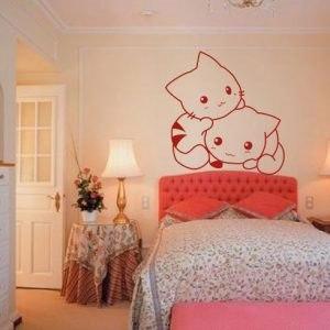 Gattino falmatrica dekoráció gyerekszoba faltetoválás kreatív ajándék ötlet