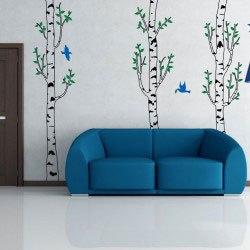 Birke fa falmatrica dekoráció gyerekszoba ajándék ötlet