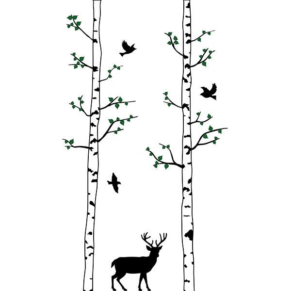 Stag fa falmatrica dekoráció gyerekszoba faltetoválás ajándék ötlet