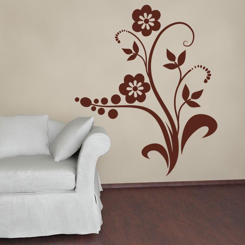 Flora falmatrica dekoráció gyerekszoba faltetoválás ajándék ötlet