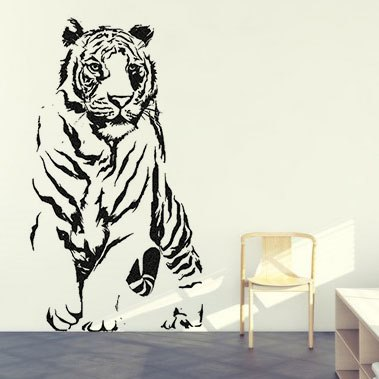 Tigris falmatrica dekoráció gyerekszoba faltetoválás ...
