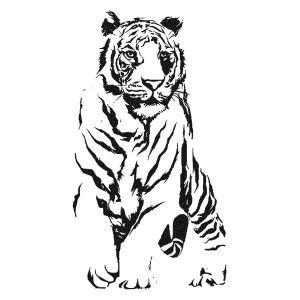 Tigris falmatrica dekoráció M404