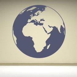Föld bolygó falmatrica dekoráció gyerekszoba ajándék ötlet