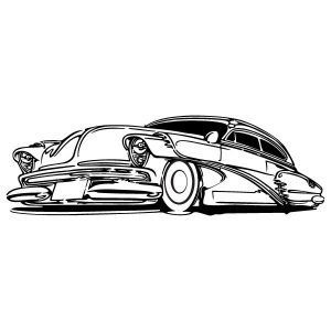 Chevy Deluxe falmatrica dekoráció gyerekszoba ajándék ötlet