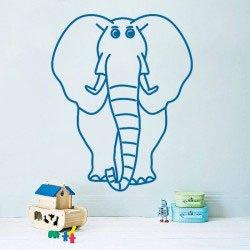 Elefánt falmatrica dekoráció gyerekszoba kreatív ajándék ötlet