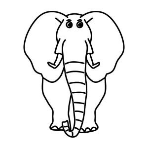 Elefánt falmatrica dekoráció M311