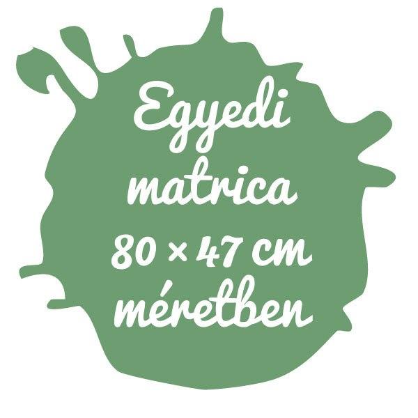 Egyedi matrica tervezése 80×47 cm területen