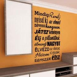 Motivációs idézet mindig remélj falmatrica dekoráció magyar feliratos