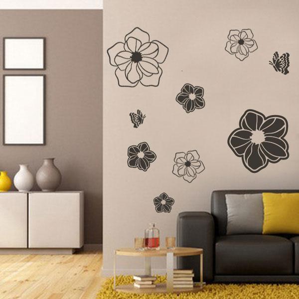 Virágos falmatrica gyerekszoba dekoráció M218