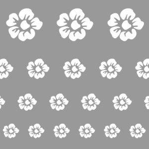 Virág sablon minta M601