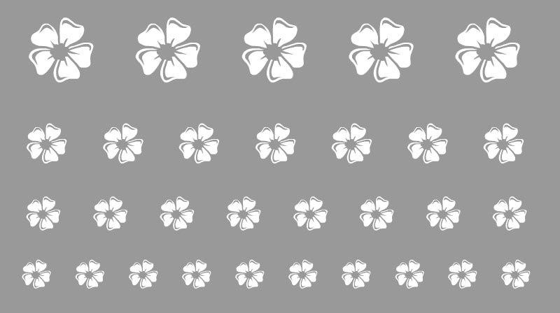 Virág sablon minta M602