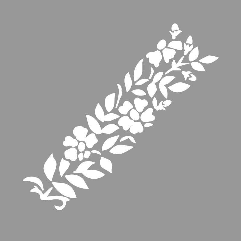 Virágos sablon minta egybefüggő grafikával (2 db) M610