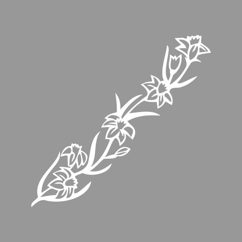 Virágos sablon minta (2 db) M611