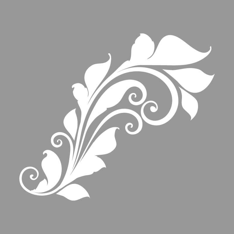 Virágos sablon minta (2 db) M613