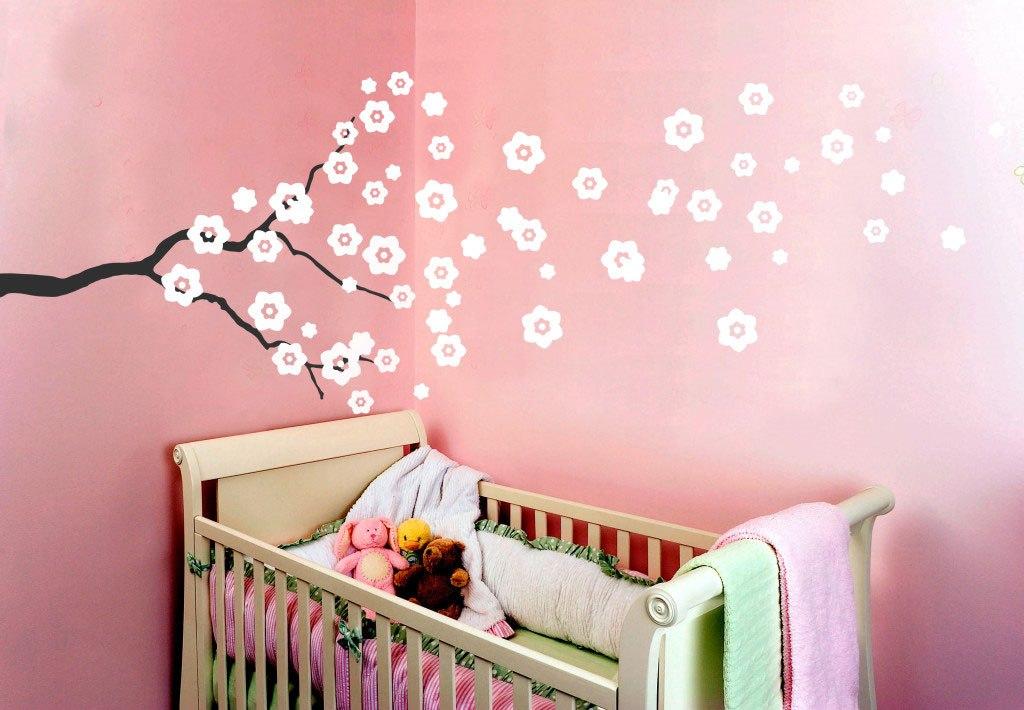 Dekor virágos ág falmatrica gyerekszoba dekoráció M217