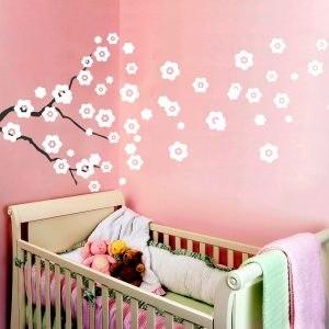 Dekor virágos ág falmatrica gyerekszoba dekoráció faltetoválás