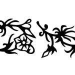 Virágos sablon minta stencil hópehely ruhafestés üvegfestés m610