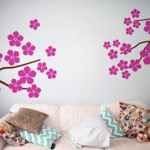 Virágos dekor ágak falmatrica faltetoválás gyerekszoba dekoráció olcsó