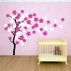 Fa falmatrica faltetoválás házilag gyerekszoba dekoráció motivációs