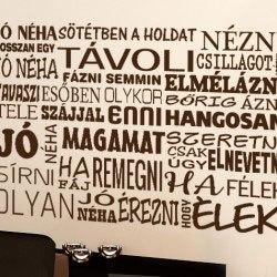 Jó néha magyar feliratos idézet falmatrica faltetoválás dalszöveg felirattal