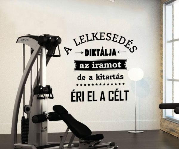 Motivációs idézet fittness edzéshez feliratos falmatrica faltetoválás felirattal