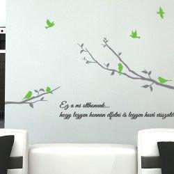 Dekor ág fa falmatrica faltetoválás magyar feliratos szöveges idézettel