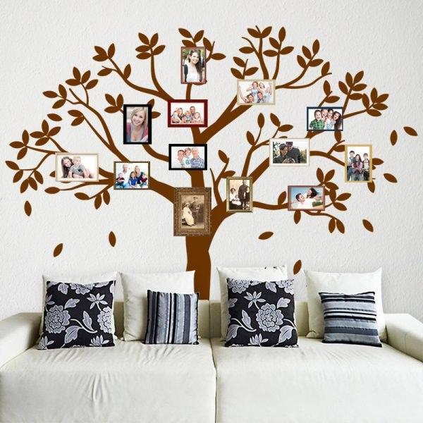 Családfa falmatrica fa faltetoválás family tree gyerekszoba dekoráció