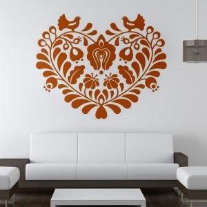 Magyar szív minta falmatrica dekoráció M226