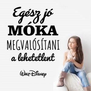 Egész jó móka idézet szöveges faltetoválás motivációs magyar szöveggel