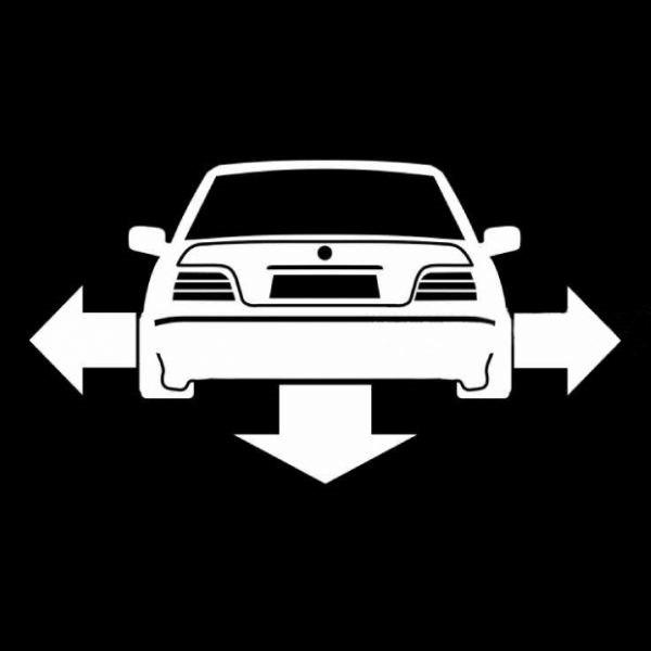 BMW downandout autóra matrica egyedi matrica tervezés tuning kocsira