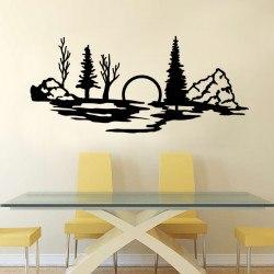 Falmatrica faltetoválás fali matrica modern nappali tájkép olcsó házilag táj
