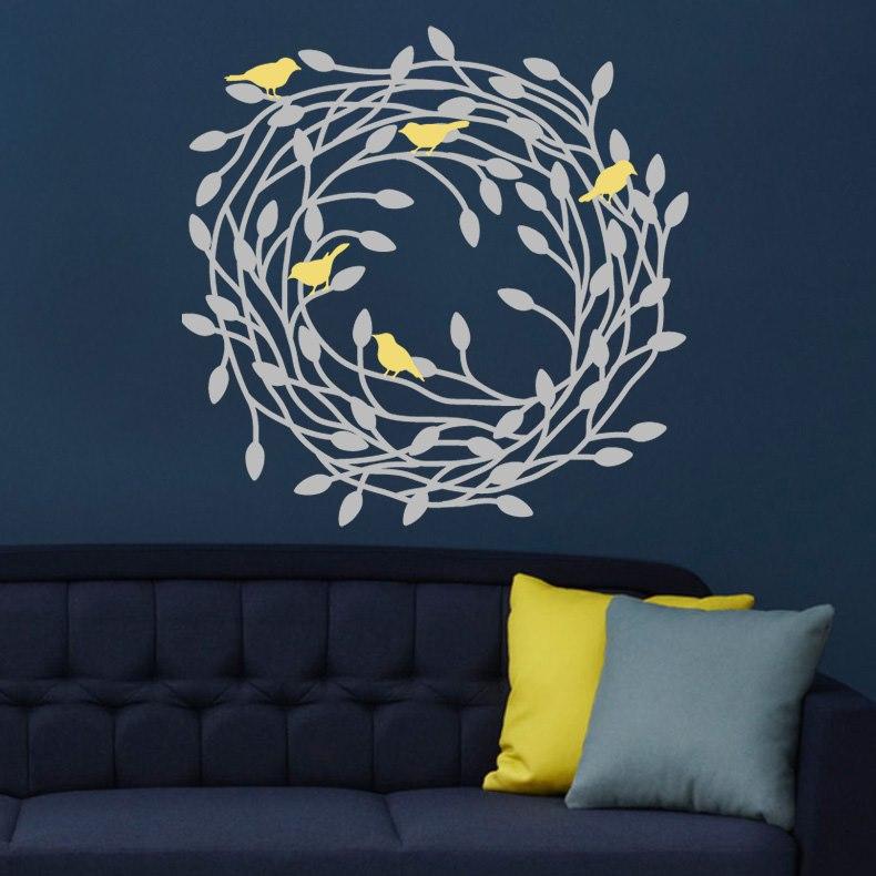 Fészek falmatrica faltetoválás fali matrica gyerekszoba olcsó házilag dekor