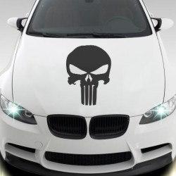 Koponya autóra matrica egyedi matrica tervezés tuning kocsira jdm sport