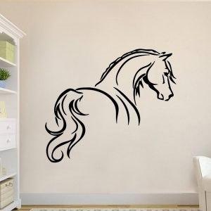 Lovas ajándék tárgy ló alak falmatrica faltetoválás gyerekszoba dekoráció