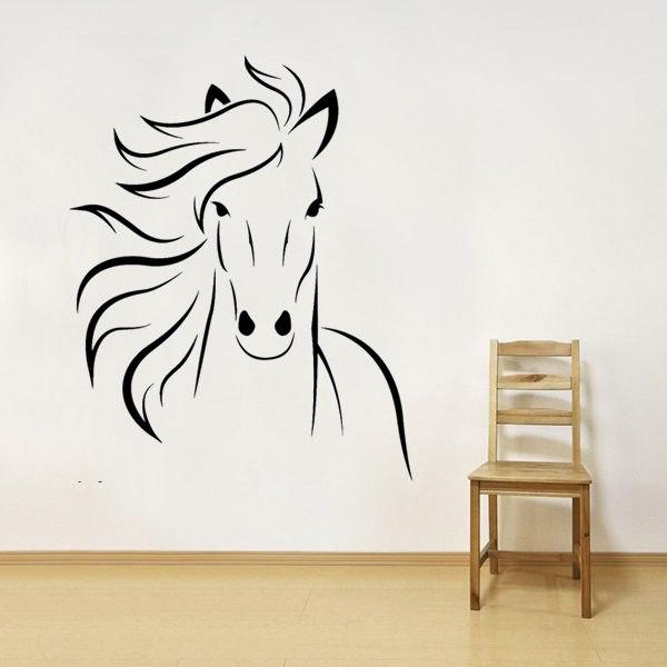 Lovas ajándék tárgy ló fali falmatrica faltetoválás gyerekszoba dekoráció