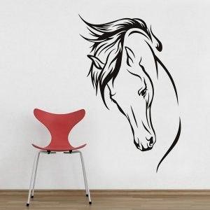 Lovas ajándék tárgy ló fej falmatrica faltetoválás gyerekszoba dekoráció