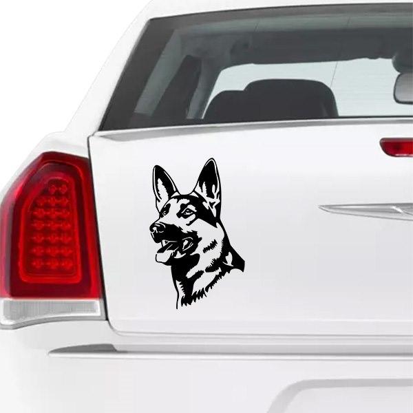 d2397e7fce Német juhász kutya matrica autóra egyedi matrica tervezés tuning kocsira