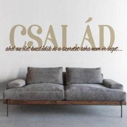 Család falmatrica idézet szöveges faltetoválás magyar fali matrica olcsón