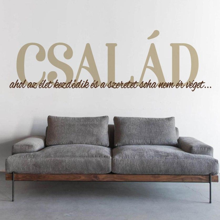Család idézet falmatrica dekoráció M837