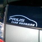 Toyota Prius club hungary matrica klub autós autóra priusz dekoráció