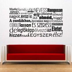 Falmatrica idézet nappaliba olcsón hálószobába faltetoválás feliratos