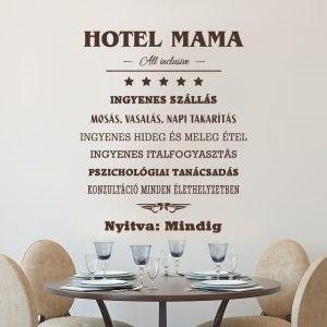 Hotel Mama falmatrica dekoráció M845