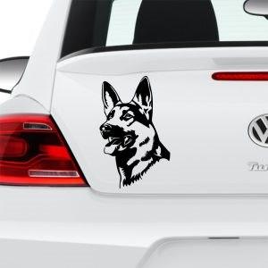 Német juhász kutya matrica autóra egyedi matrica tervezés tuning kocsira