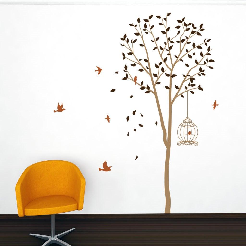 Fa madarakkal falmatrica dekoráció M119