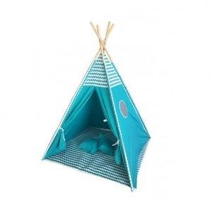 Gyerek sátor játszósátor – játszósátor kék színű T301