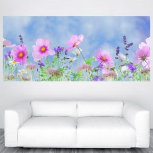 Szép rózsaszín lila virágok óriás poszter olcsó fali kép nyomtatás plakát