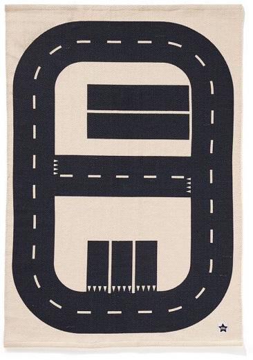 Autós út parkolóval szőnyeg gyerekszoba játszószőnyeg babaszoba dekoráció