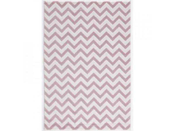 Cikk Cakk rózsaszín-fehér szőnyeg gyerekszoba játszószőnyeg baba