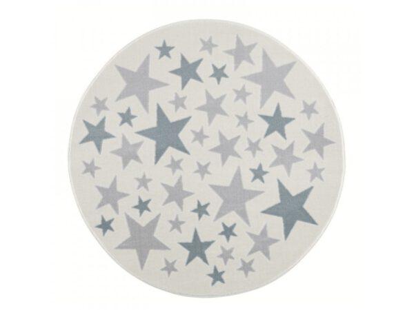Csillagos kör alakú szőnyeg gyerekszoba játszószőnyeg babaszoba